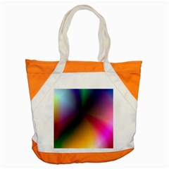 Prism Rainbow Accent Tote Bag