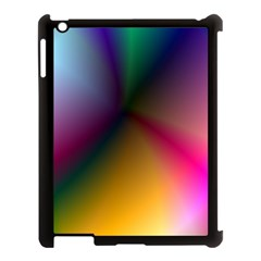 Prism Rainbow Apple Ipad 3/4 Case (black) by StuffOrSomething