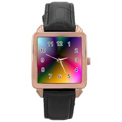 Prism Rainbow Rose Gold Leather Watch  by StuffOrSomething