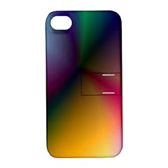 Prism Rainbow Apple Iphone 4/4s Hardshell Case With Stand by StuffOrSomething
