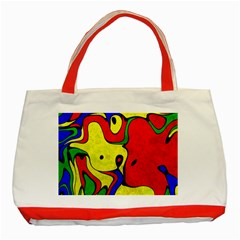 Abstract Classic Tote Bag (red) by Siebenhuehner