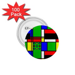 Mondrian 1 75  Button (100 Pack) by Siebenhuehner