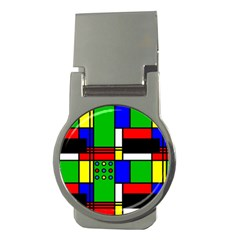 Mondrian Money Clip (round)