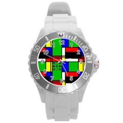 Mondrian Plastic Sport Watch (large) by Siebenhuehner