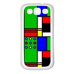 Mondrian Samsung Galaxy S3 Back Case (white) by Siebenhuehner