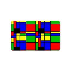 Mondrian Magnet (name Card) by Siebenhuehner
