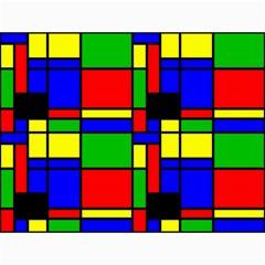 Mondrian Canvas 12  X 16  (unframed) by Siebenhuehner