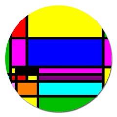 Mondrian Magnet 5  (round) by Siebenhuehner