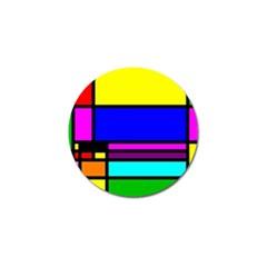 Mondrian Golf Ball Marker 4 Pack by Siebenhuehner