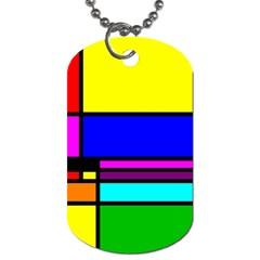 Mondrian Dog Tag (two Sided)  by Siebenhuehner