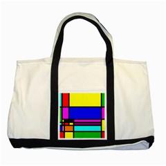 Mondrian Two Toned Tote Bag