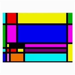 Mondrian Glasses Cloth (large, Two Sided) by Siebenhuehner