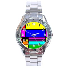 Mondrian Stainless Steel Watch by Siebenhuehner