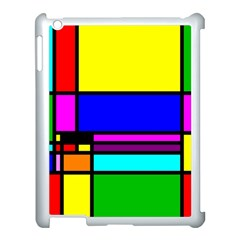 Mondrian Apple Ipad 3/4 Case (white)