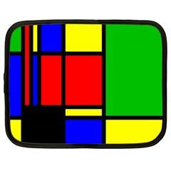 Mondrian Netbook Sleeve (xl) by Siebenhuehner