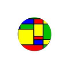 Mondrian Golf Ball Marker by Siebenhuehner