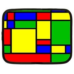 Mondrian Netbook Sleeve (large) by Siebenhuehner