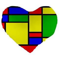 Mondrian 19  Premium Heart Shape Cushion by Siebenhuehner