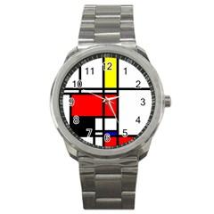 Mondrian Sport Metal Watch by Siebenhuehner