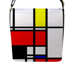 Mondrian Flap Closure Messenger Bag (large) by Siebenhuehner