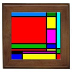 Mondrian Framed Ceramic Tile by Siebenhuehner