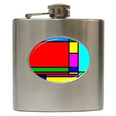 Mondrian Hip Flask by Siebenhuehner