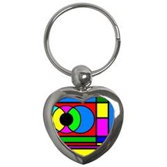 Mondrian Key Chain (heart) by Siebenhuehner