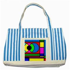 Mondrian Blue Striped Tote Bag by Siebenhuehner