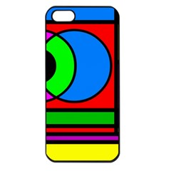 Mondrian Apple Iphone 5 Seamless Case (black) by Siebenhuehner
