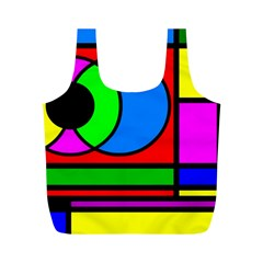 Mondrian Reusable Bag (m) by Siebenhuehner