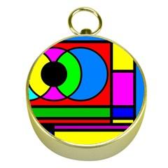 Mondrian Gold Compass by Siebenhuehner