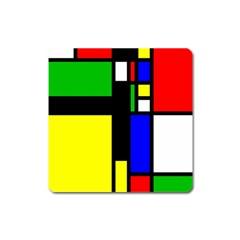 Abstrakt Magnet (square) by Siebenhuehner