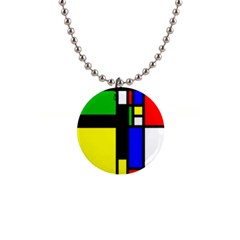Abstrakt Button Necklace by Siebenhuehner