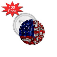 American Flag Blocks 1 75  Button (100 Pack) by bloomingvinedesign