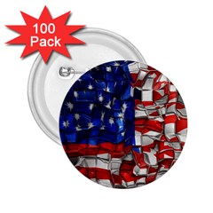 American Flag Blocks 2 25  Button (100 Pack) by bloomingvinedesign