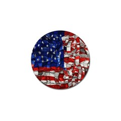 American Flag Blocks Golf Ball Marker 10 Pack by bloomingvinedesign
