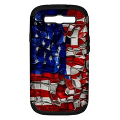 American Flag Blocks Samsung Galaxy S Iii Hardshell Case (pc+silicone)