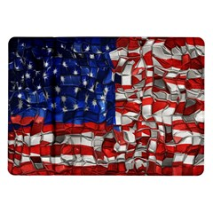 American Flag Blocks Samsung Galaxy Tab 10 1  P7500 Flip Case by bloomingvinedesign