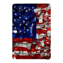 American Flag Blocks Samsung Galaxy Tab Pro 12 2 Hardshell Case by bloomingvinedesign