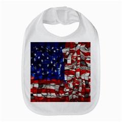 American Flag Blocks Bib by bloomingvinedesign