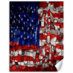 American Flag Blocks Canvas 12  X 16  (unframed) by bloomingvinedesign