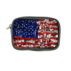 American Flag Blocks Coin Purse by bloomingvinedesign