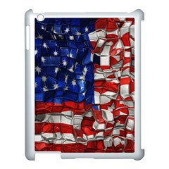 American Flag Blocks Apple Ipad 3/4 Case (white) by bloomingvinedesign
