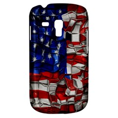 American Flag Blocks Samsung Galaxy S3 Mini I8190 Hardshell Case by bloomingvinedesign
