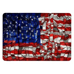 American Flag Blocks Samsung Galaxy Tab 8 9  P7300 Flip Case by bloomingvinedesign
