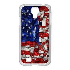 American Flag Blocks Samsung Galaxy S4 I9500/ I9505 Case (white) by bloomingvinedesign
