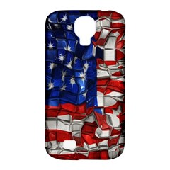 American Flag Blocks Samsung Galaxy S4 Classic Hardshell Case (pc+silicone) by bloomingvinedesign