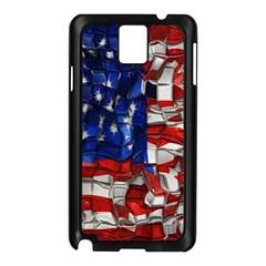 American Flag Blocks Samsung Galaxy Note 3 N9005 Case (black) by bloomingvinedesign
