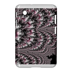 Black Red White Lava Fractal Samsung Galaxy Tab 2 (7 ) P3100 Hardshell Case  by bloomingvinedesign