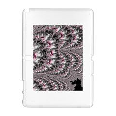 Black Red White Lava Fractal Samsung Galaxy Note 10 1 (p600) Hardshell Case by bloomingvinedesign
